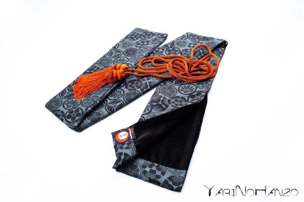 Katana Bukuro Kamon (Light background) | Bag for Nihonto Katana and Iaito | Top quality Katana bag