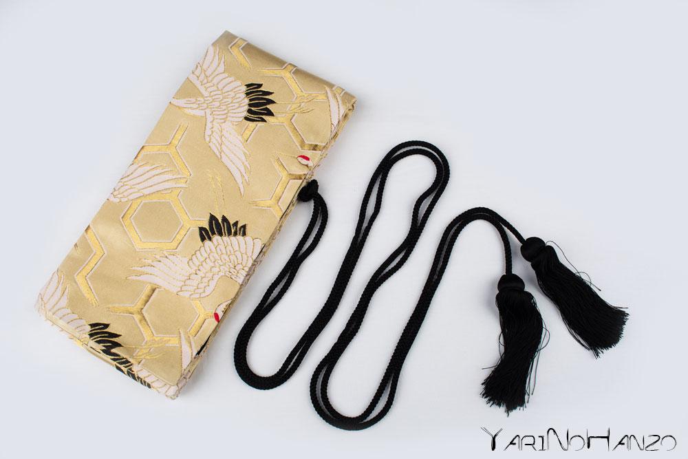 Katana Bukuro Tanchozuru | Bag for Nihonto Katana and Iaito | Top quality Nishijin Katana bag