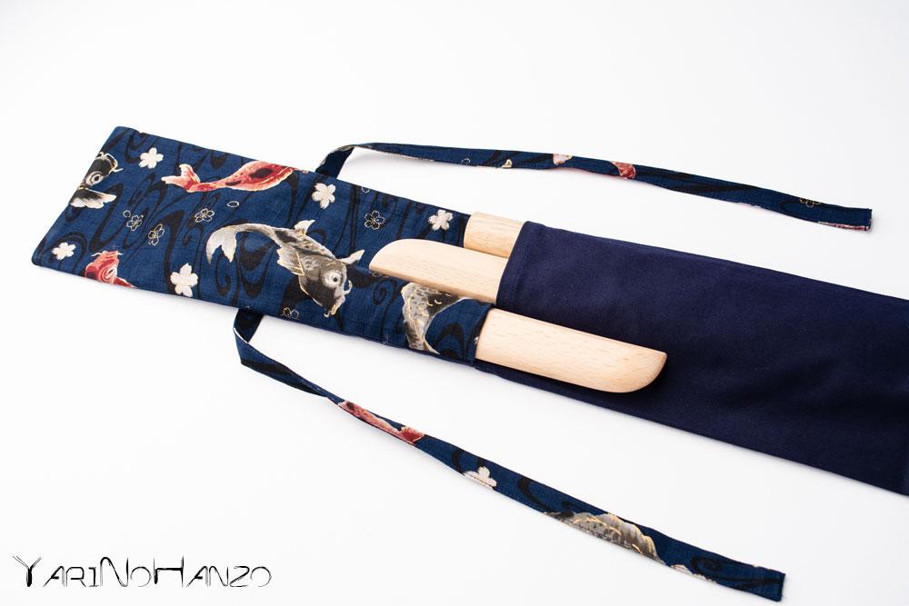 Aikido Bag KOI blue | Bag For Bokken, Jo and Tanto | Top quality Aikido bag