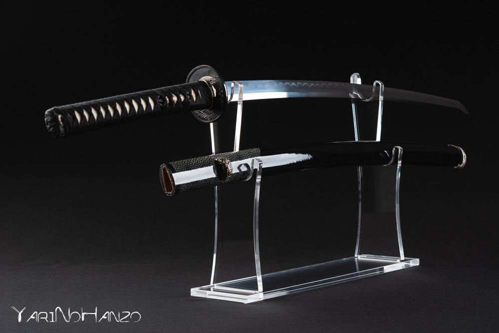 Luxury Katana Kake in plexiglass | Espositore doppio da tavolo per Katana
