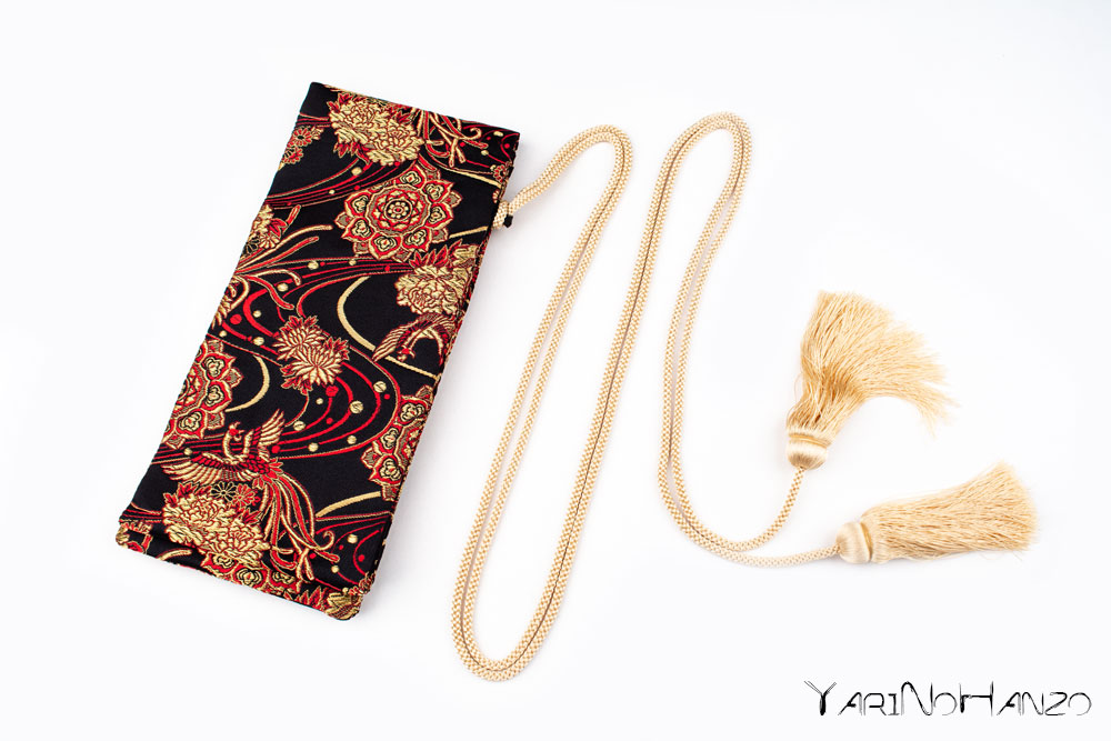 Katana Bukuro Kiku | Bag for Nihonto Katana and Iaito | Top quality Nishijin Katana bag