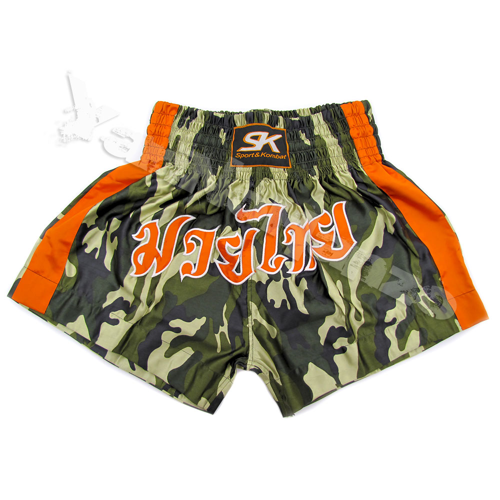 MUAY THAI SHORTS -  CAMOUFLAGE SATIN