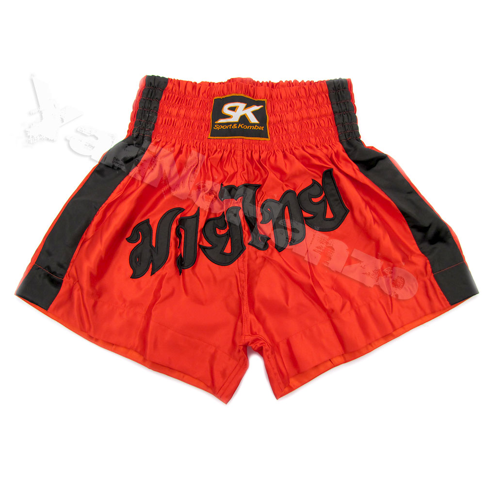 MUAY THAI SHORTS -  RED SATIN