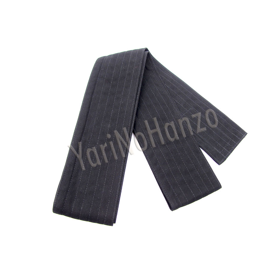 Kaku Obi black extra wide | Iaido obi | Iaido belt