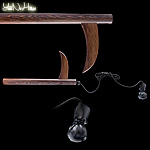 Kusarigama with rope | Top qaulity Kusaritama Wengé wood