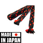 Shigeuchi Sageo black-red 220 cm | Made in Japan