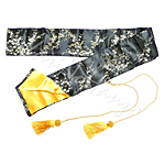 Silk bag black-gold for Katana and Iaito | Silk sword bag for Samurai Sword