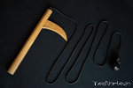 Kusarigama with rope | Top quality Kusarigama LIGNUM VITAE wood