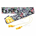 Silk bag black-flowers for Katana and Iaito | Silk sword bag for Samurai Sword